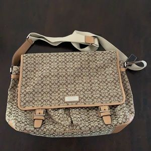 Coach brown messenger bag